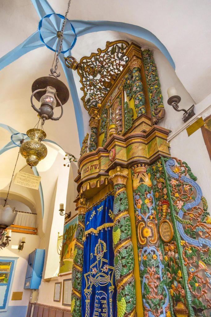 Arca de la Torá en la sinagoga Ashkenazi Ari, Safed Tsefat, Israel © Wiliam Perry / Alamy Stock Photo