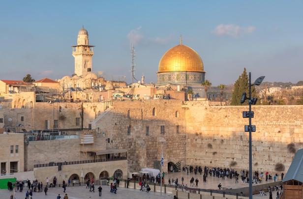 Una vista del Monte del Templo en la ciudad vieja de Jerusalén. © lucky-photographer / Alamy Stock Photo