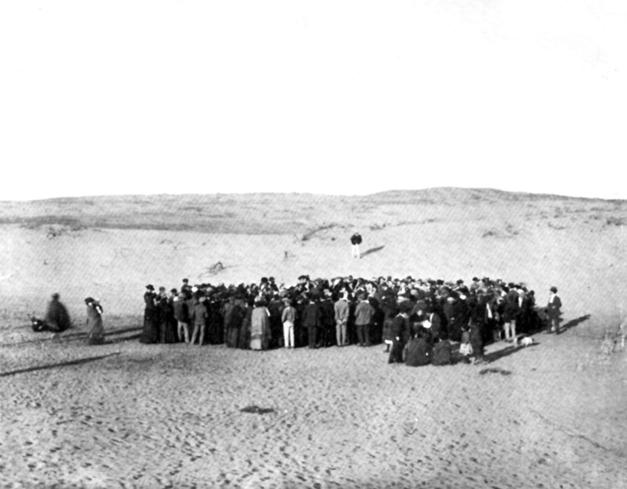 Asignación de parcelas a los residentes en las dunas de arena de Tel Aviv