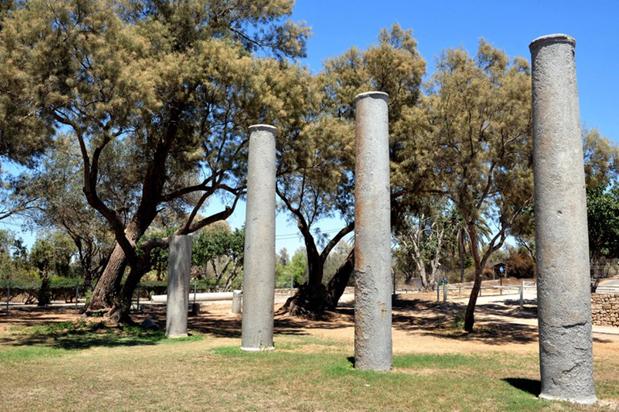 Pilares en el Parque Nacional Ashkelon