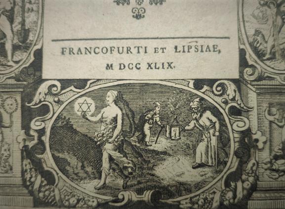 'El filósofo que estudia la naturaleza' De un libro alquímico de 1749