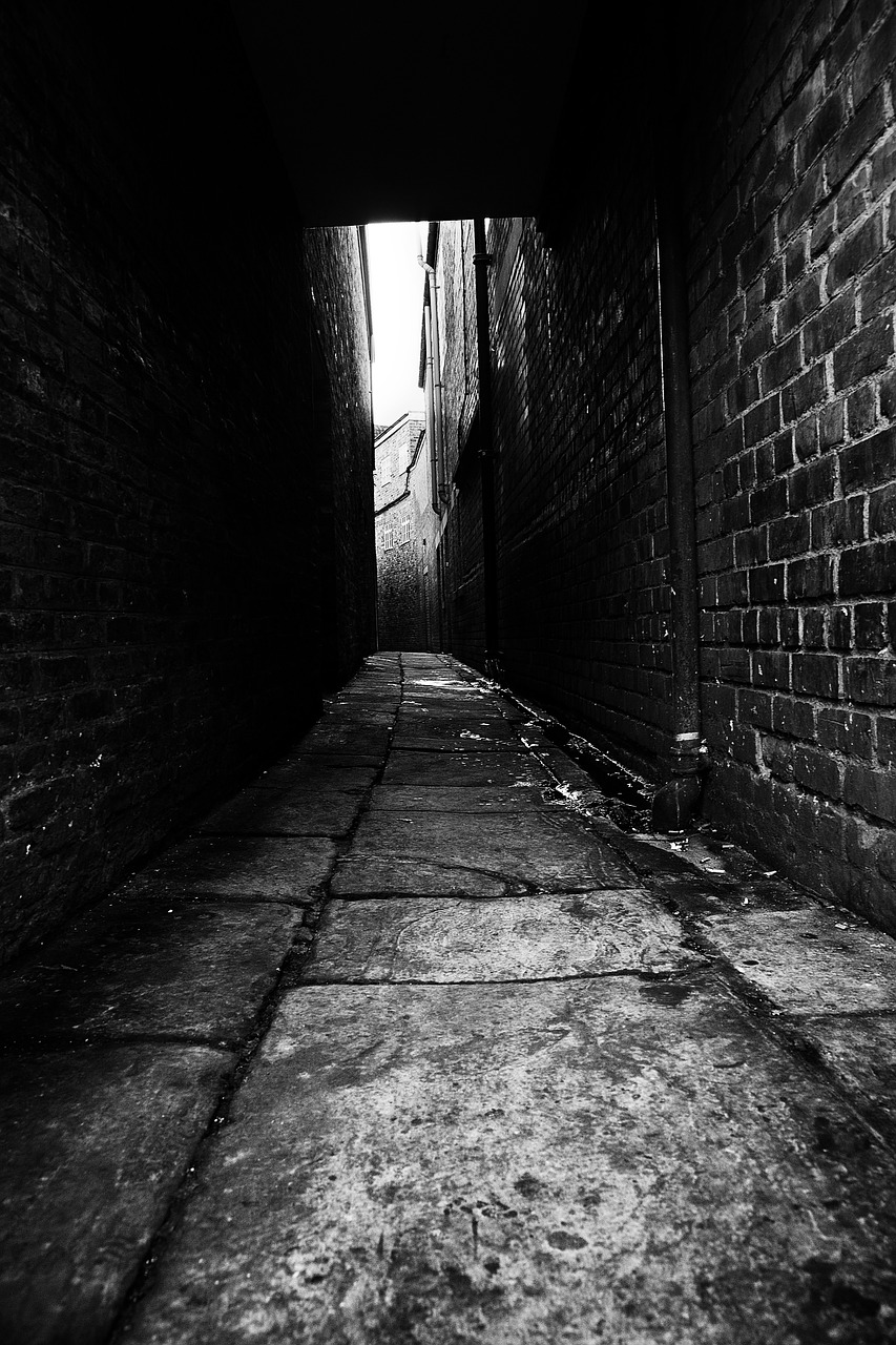 abandon, alley, architecture