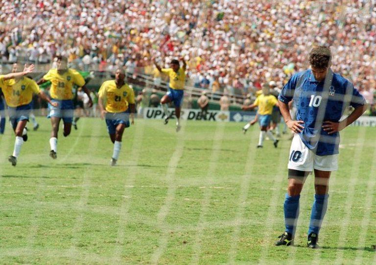 Penal errado por Baggio - 1994