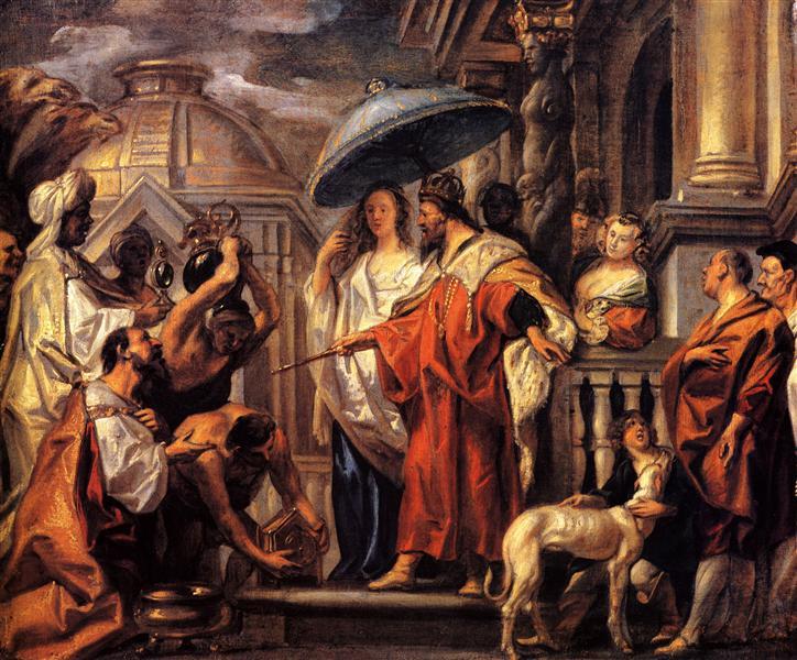 El tributo del califa Harun al Rashid a Carlomagno (1663) - Jacob Jordaens