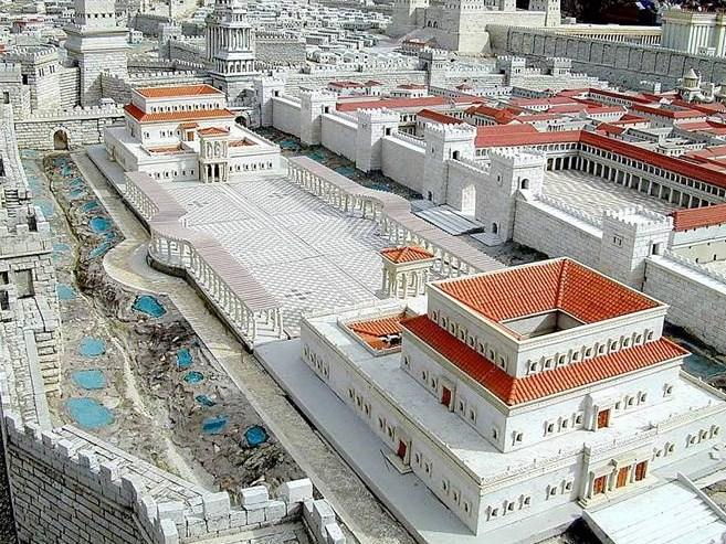 Maqueta del Palacio de Herodes en Jerusalen