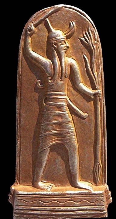 La Estela de Baal con un Rayo, encontrada en las ruinas de Ugarit.