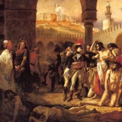 """""""Visita de Napoleón a los apestado en Jaffa"""" (1804), de Antoine Jean Gros. Museo del Louvre, París"""